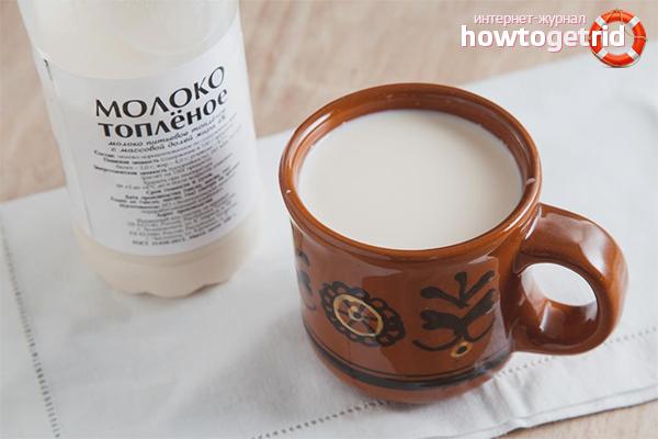 Польза и вред топленого молока для организма   польза и вред