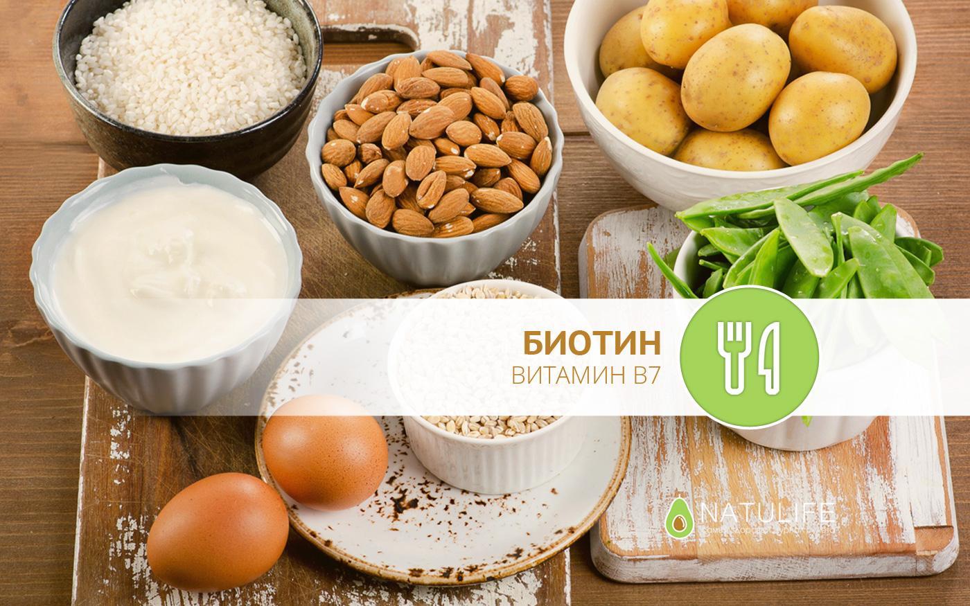В каких продуктах содержится биотин?