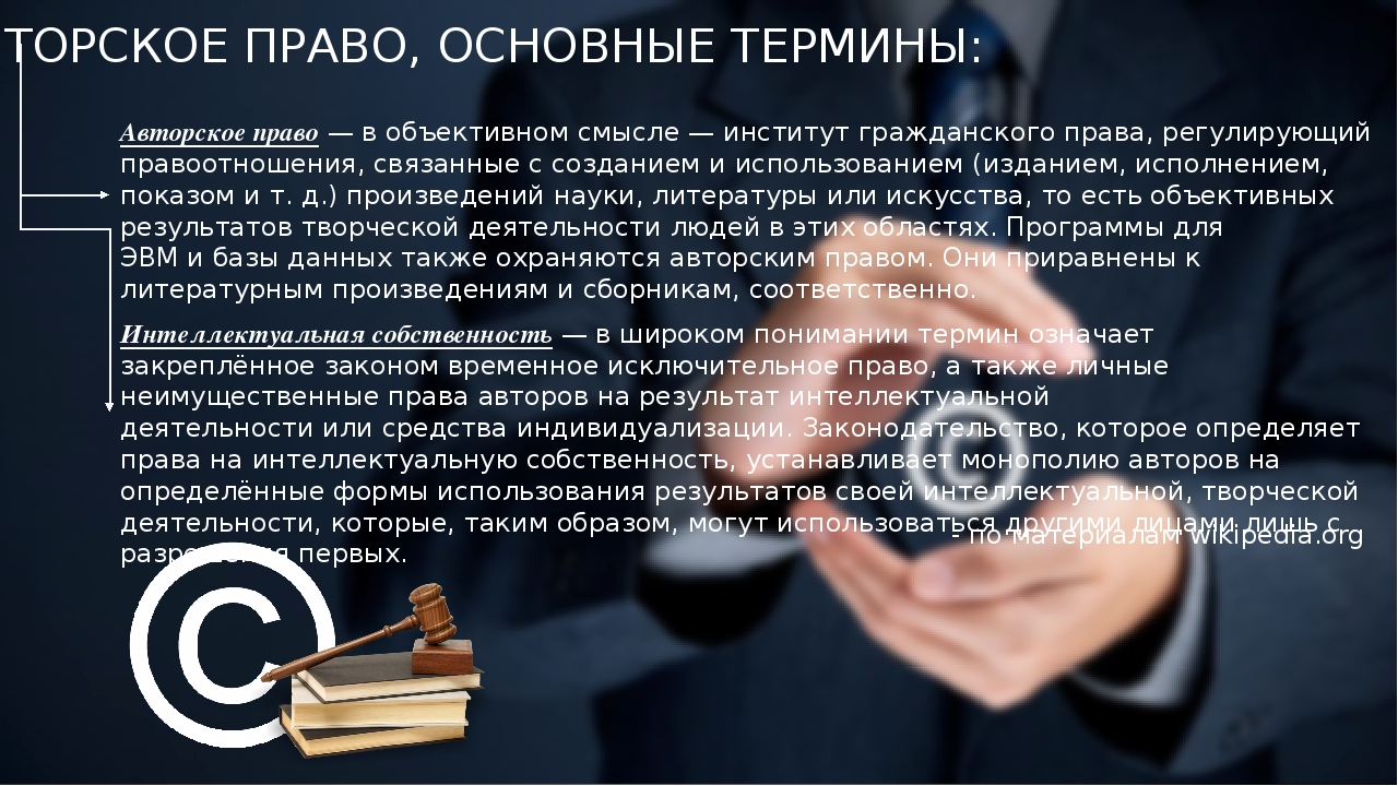 Авторское право: понятие, источники, принципы, нормы | суворов