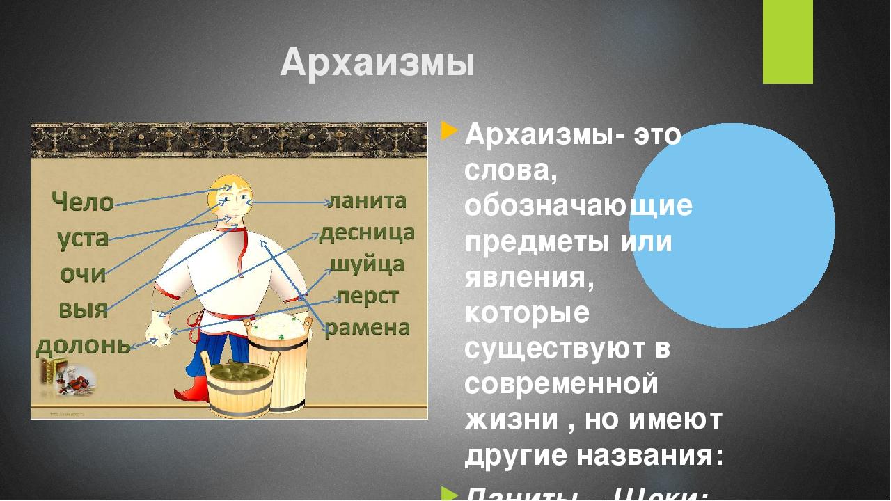 Что такое архаизмы в русском языке: значение семантических, фонетических и словообразовательных