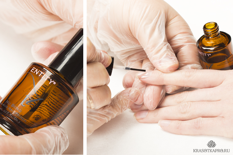 Работа с базовым покрытием: подготовка ногтя, нанесение базы для выравнивания