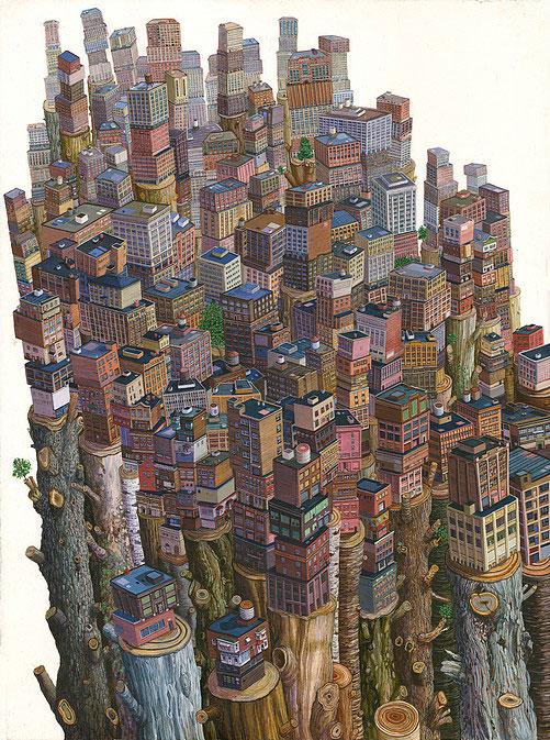 Урбанизация: городское и сельское население мира