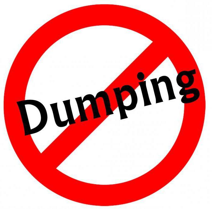 Демпинг — что это простыми словами?