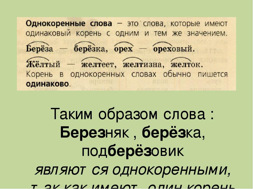Корень слова – правописание (4 класс, русский язык)