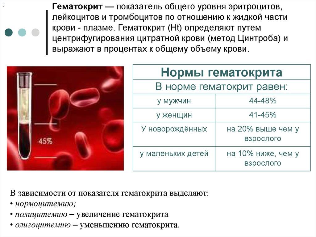 Что это значит,если гематокрит повышен у взрослого