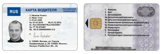 Личная карточка водителя - образец, как выглядит, где получить