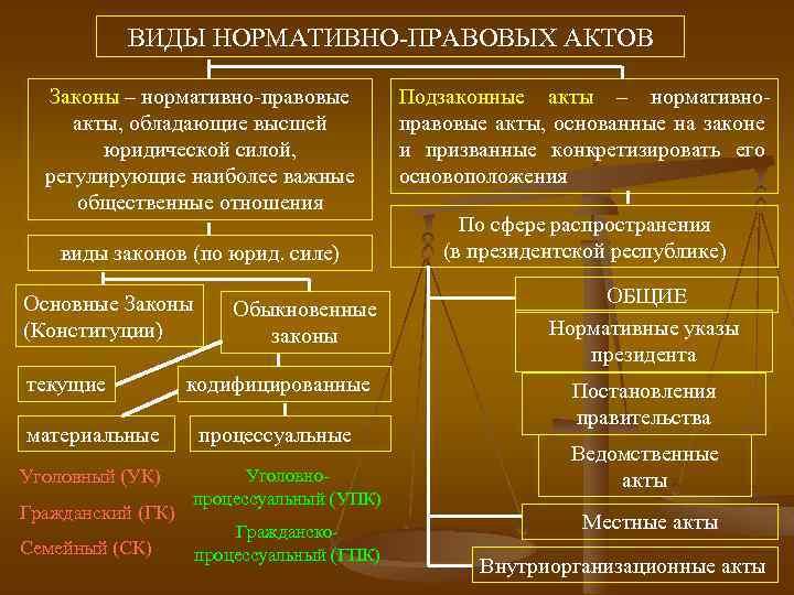 Виды нормативных актов. нормативные акты рф. нормативные акты - это...