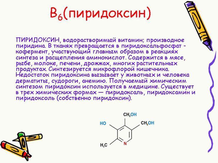 Пиридоксин (витамин b6): инструкция по применению и влияние на организм