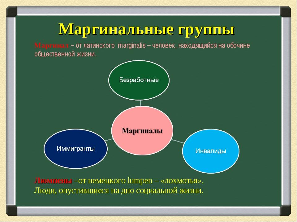 Кто такие маргинальные личности: определение понятий маргинал и маргинальный