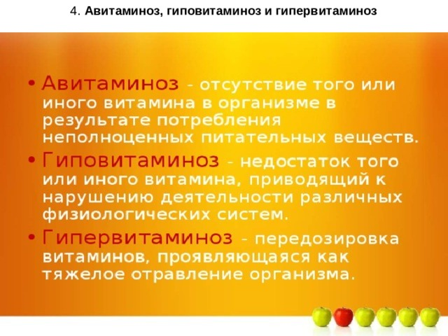 Авитаминоз, гиповитаминоз и симптомы избытка витаминов в организме, лечение, диагностика, причины