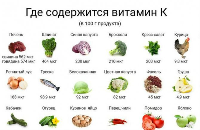 Витамин к, применение, полезные свойства, противопоказания