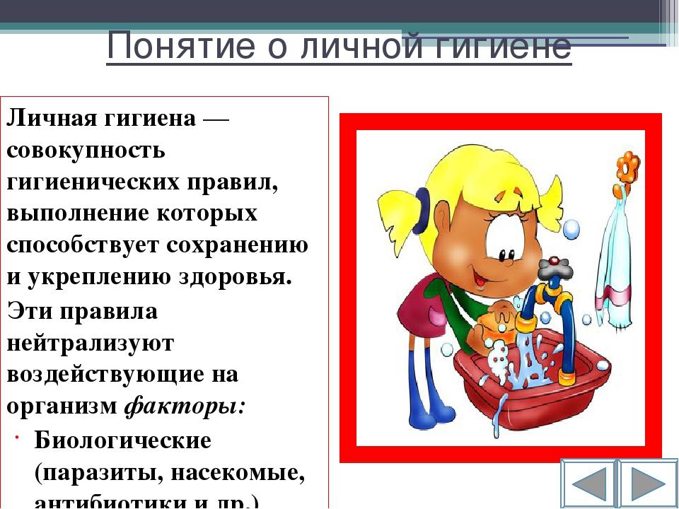 Доклад на тему личная гигиена сообщение (описание для детей)