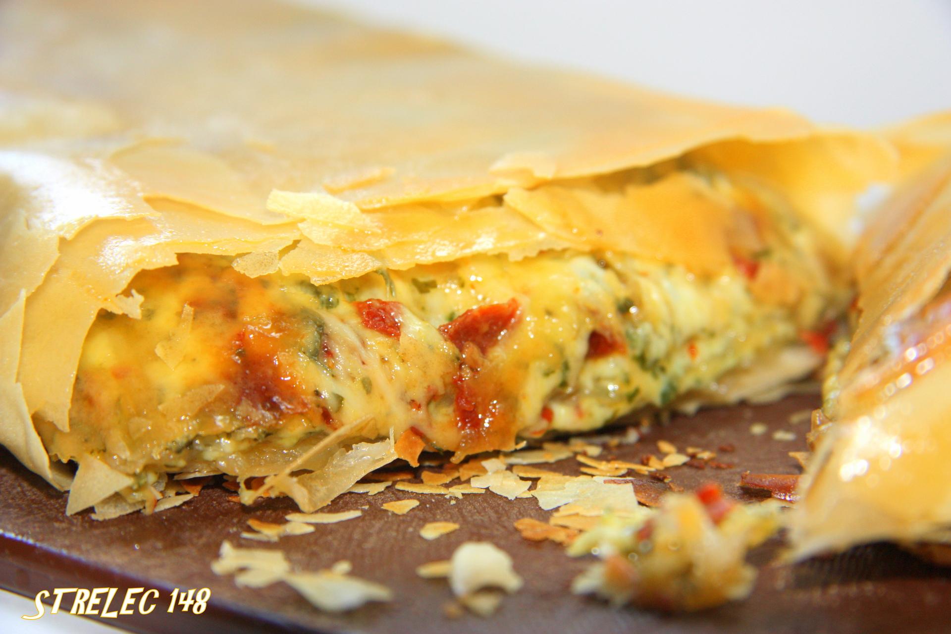 Сырный пирог из теста фило