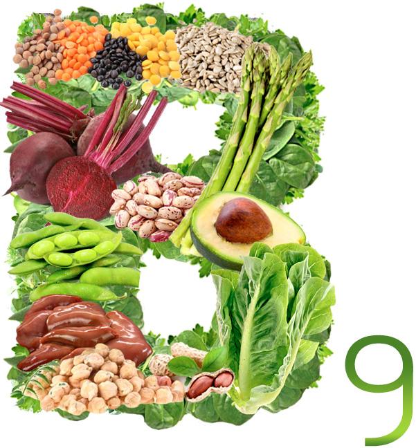Фолиевая кислота (витамин в9): полезные свойства