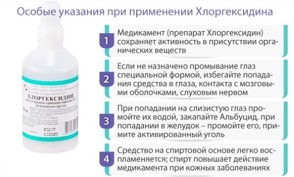 Хлоргексидин: применение раствора