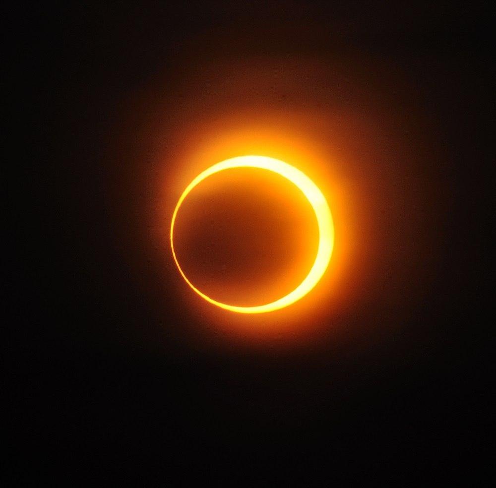 Солнечное затмение — википедия