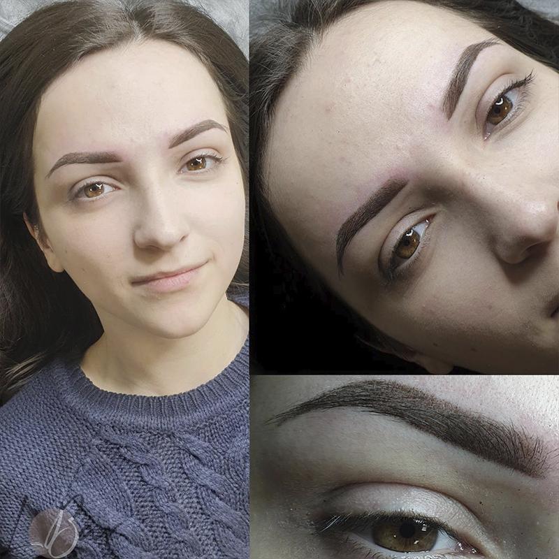 Пудровые брови, пудровое напыление бровей (фото до и после) – что это такое, что за техника?