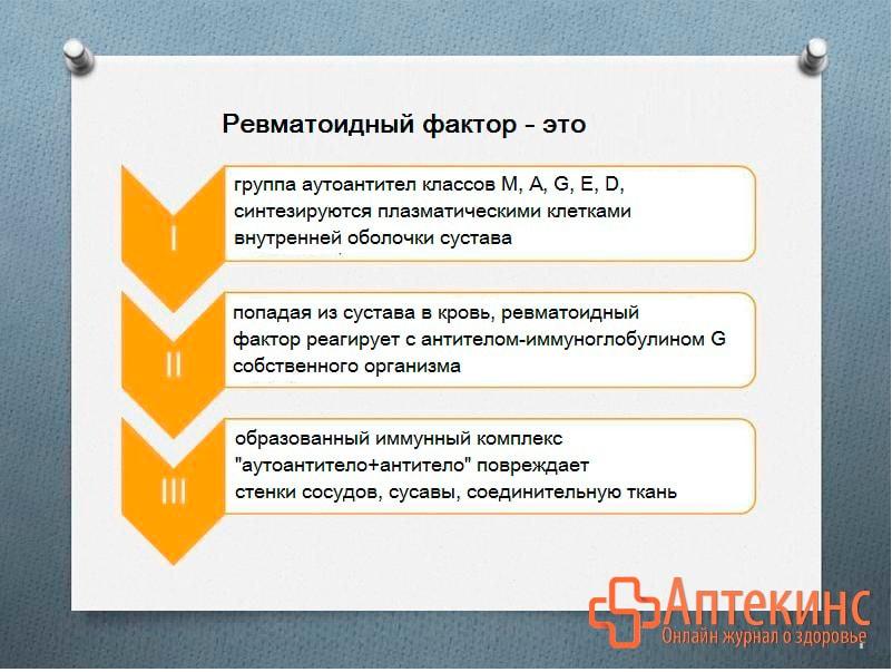Ревматоидный фактор - главный маркер аутоиммунных нарушений