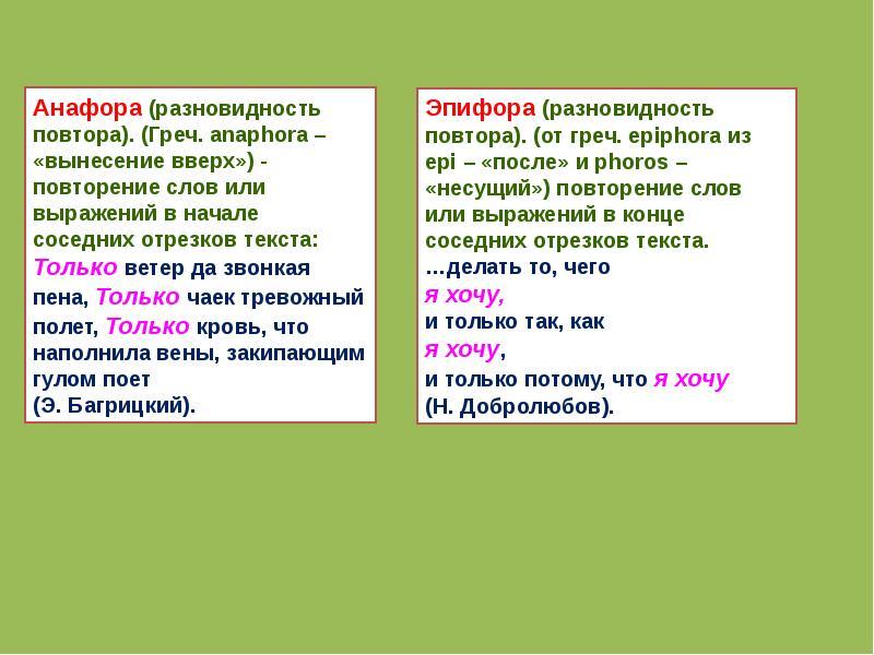 Для чего используется анафора и что это такое: конкретные примеры