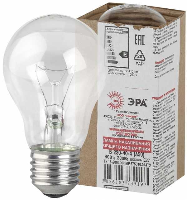 Мир вокруг нас: все про электрические лампочки