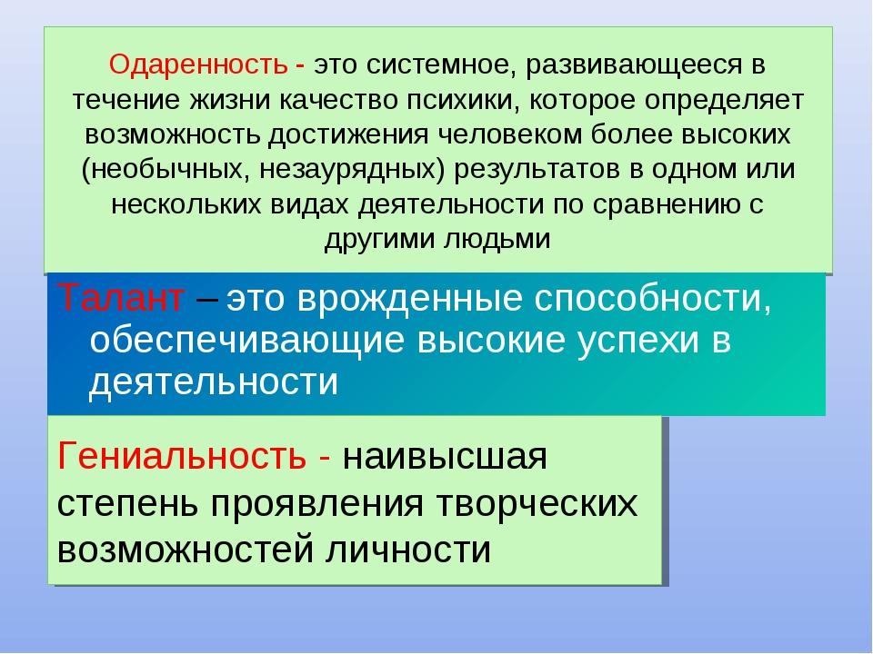 Одаренность: современные тенденции определения понятия | статья в сборнике международной научной конференции