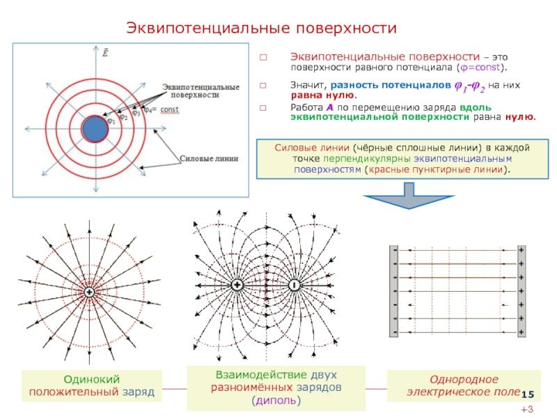 Потенциальные энергетические кривые и эквипотенциальные