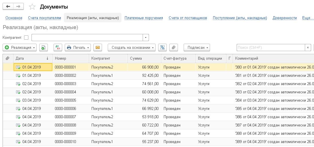 Образцы реестров передаваемых документов - права россиян
