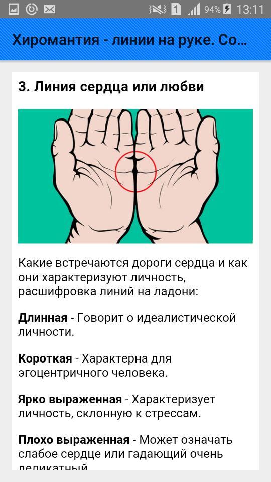 Все линии руки на ладони человека - их значение и толкование