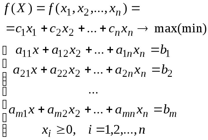 Тема 1. линейное программирование