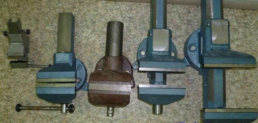 Тиски: чугунные, стальные и ручные слесарные модели, приспособления для сверлильного станка