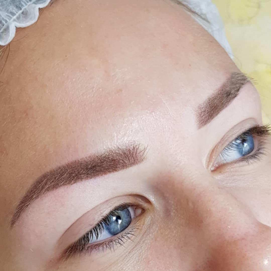 Пудровые брови: сколько держится и как делается пудровое напыление