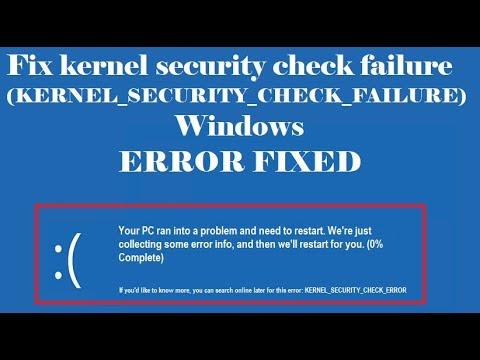 Ошибка kernel security check failure: как исправить и почему возникает при работе windows 10