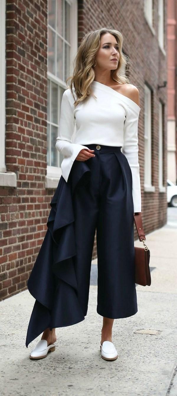 Как подобрать и носить брюки кюлоты: фото, советы