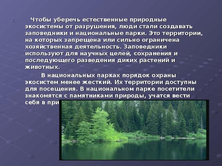 Чем национальные парки отличаются от природных, а также от заповедников и заказников
