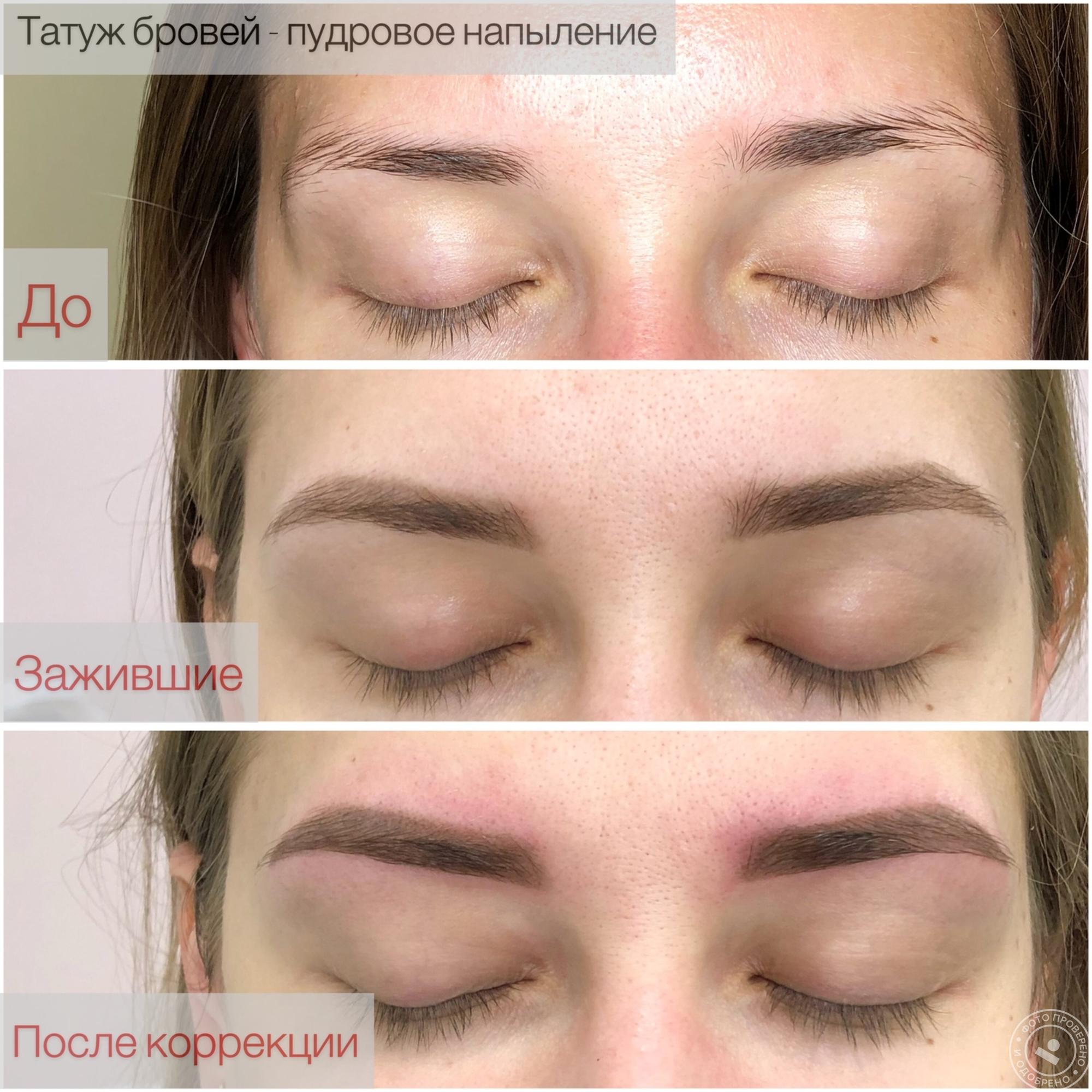 Пудровое напыление бровей, что это такое, техника, фото до и после, отзывы - ezavi.ru