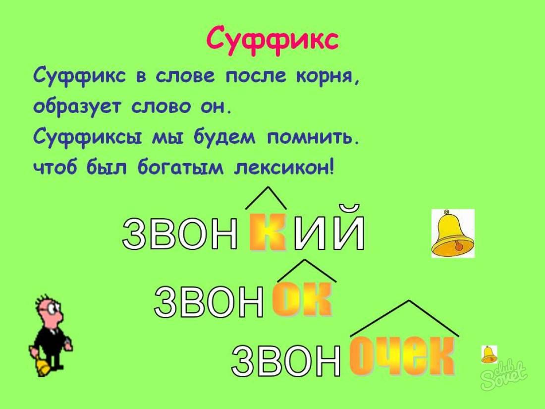 Что такое суффикс? суффикс - это... - помощник для школьников спринт-олимпик.ру