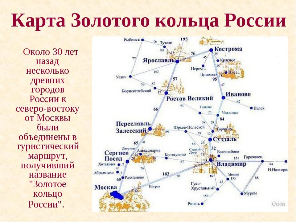 Золотое кольцо россии: города и их главные достопримечательности