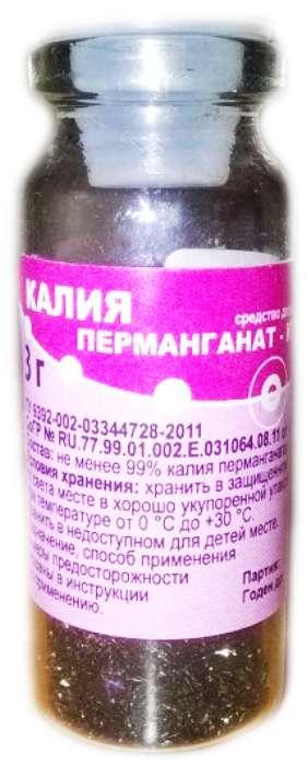 Раствор калия перманганата - инструкция, применение