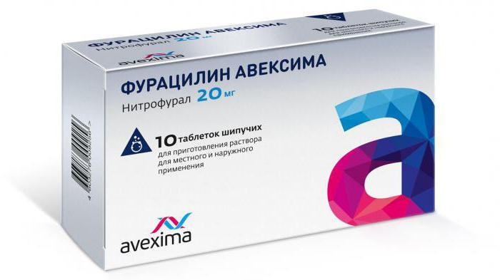 Фурацилин - применение, инструкция, показания