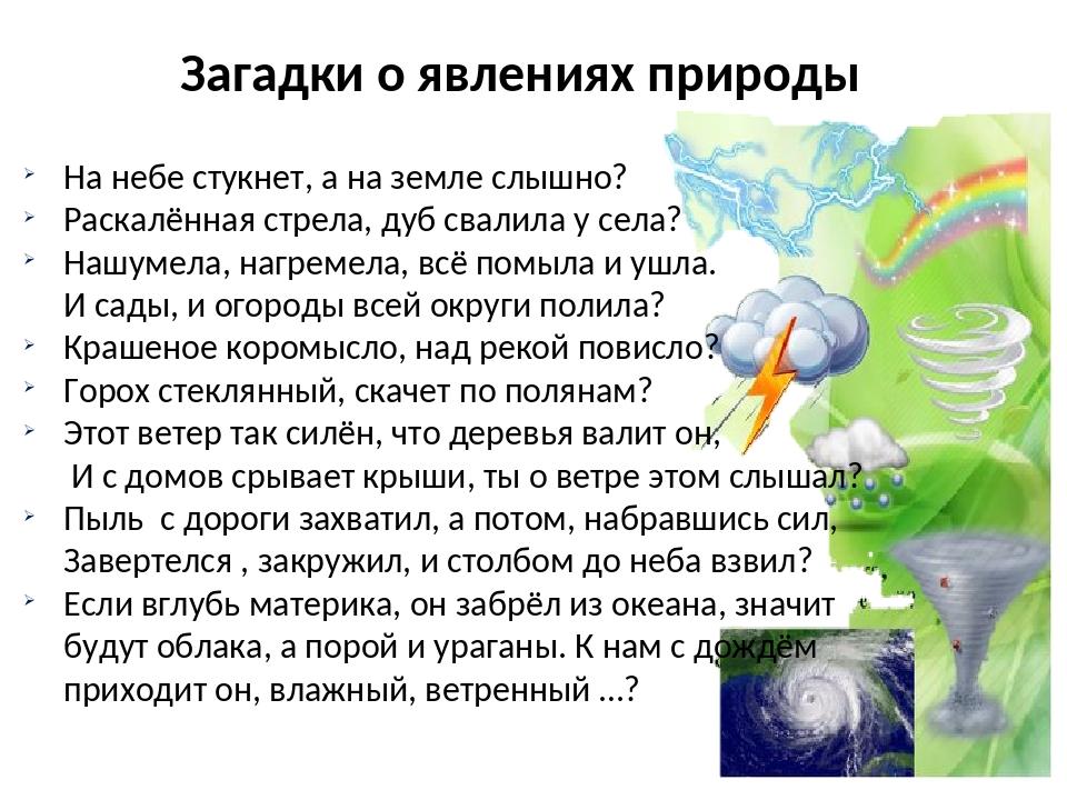 Загадки о природе