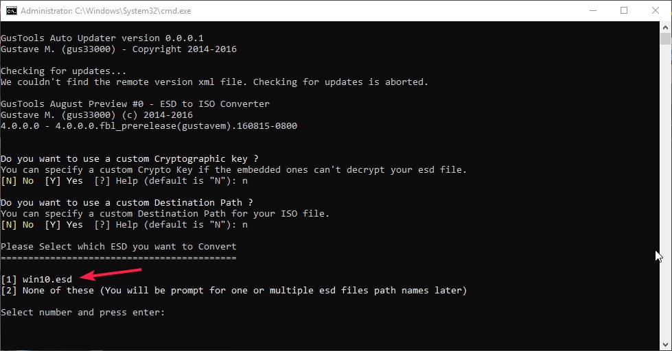 Как создать iso файл из esd файла обновления для установки windows 10