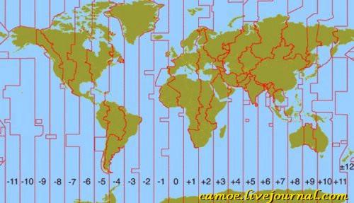 Точное время в городах и странах мира