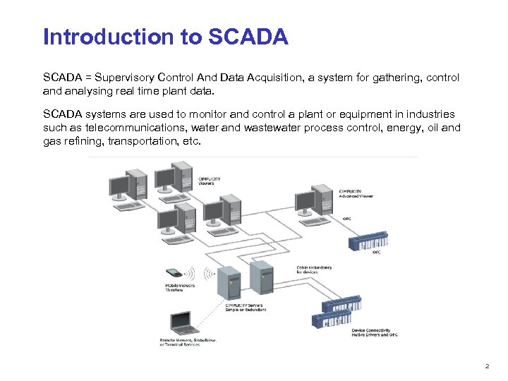Scadasupervisory control and data acquisition