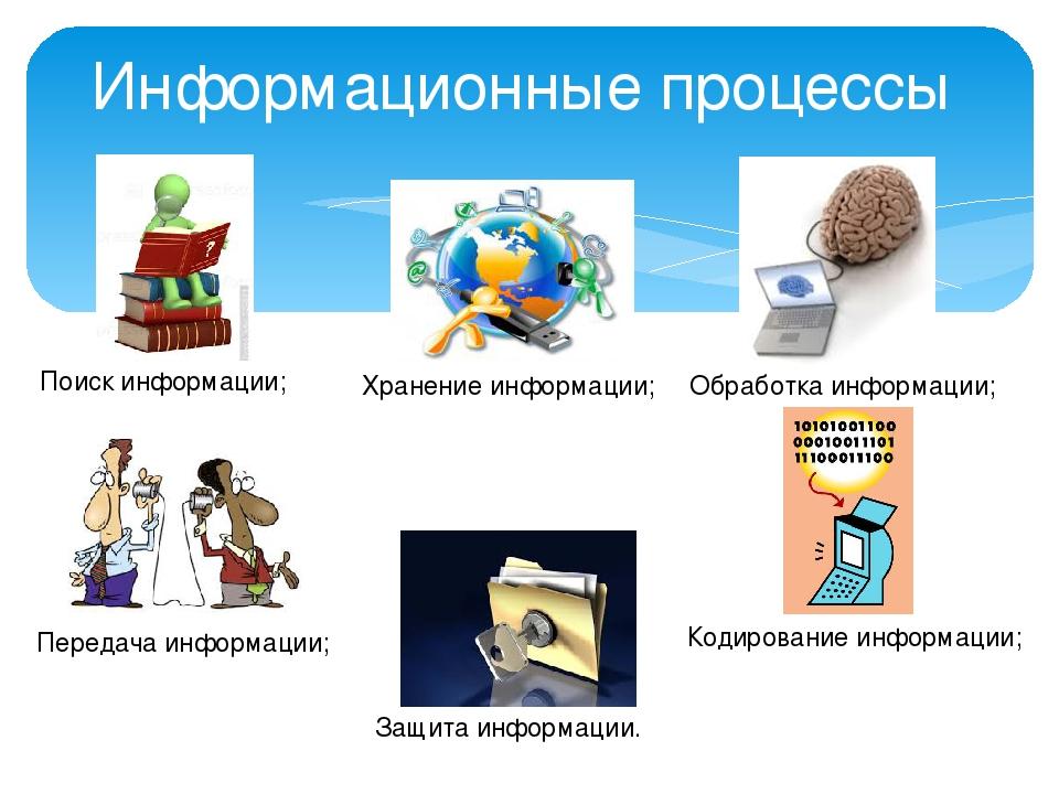Что это - информационные процессы? информационные процессы: презентация, урок