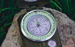 Магнитный азимут: расчет с помощью карты, компаса и транспортира, выполнение измерений на местности