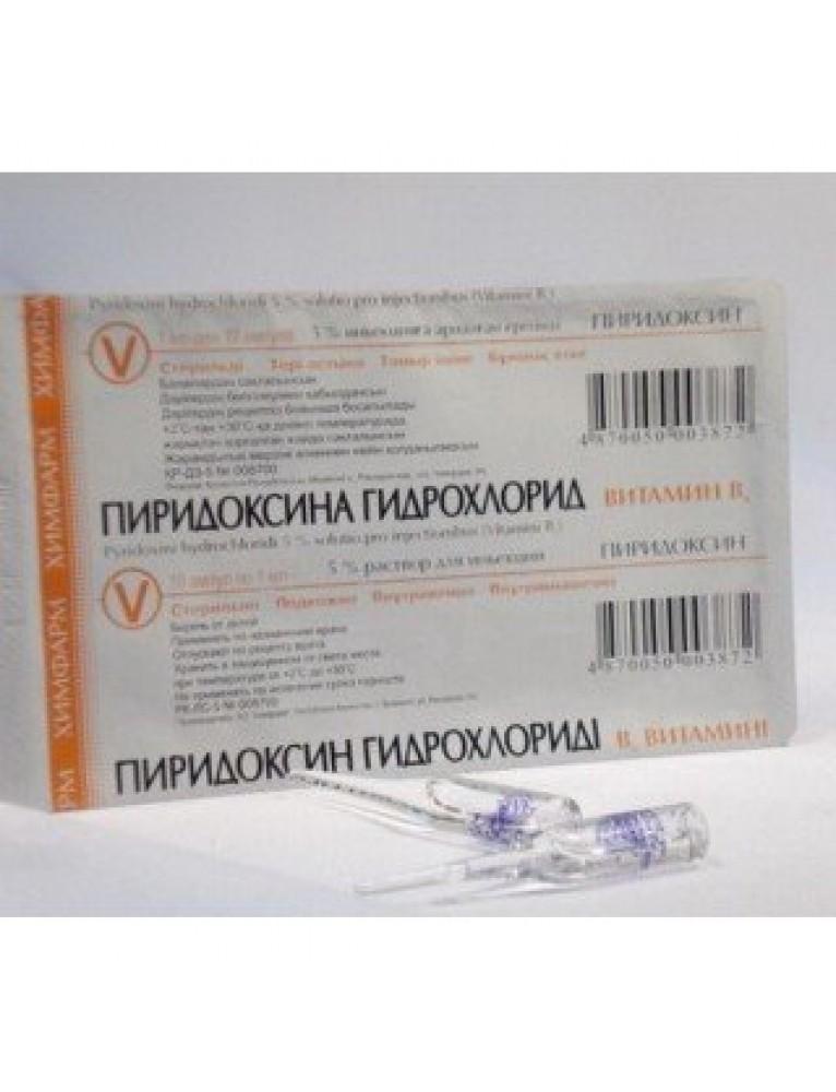 Пиридоксина гидрохлорид – что это такое