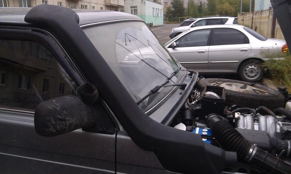 Что из себя представляет шноркель и как он монтируется в авто
