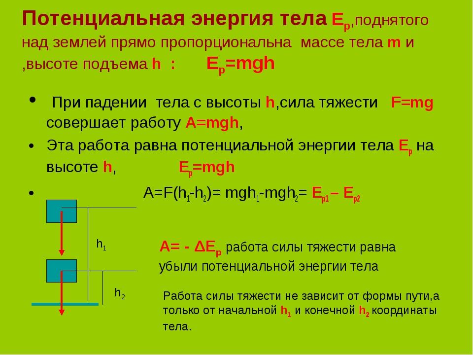 Энергия: потенциальная и кинетическая энергия