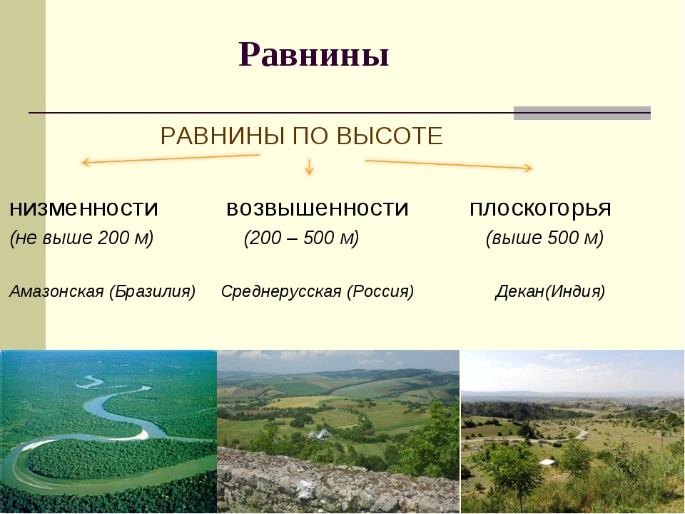 Равнины - это что такое? определение, описание и отличие равнин от гор