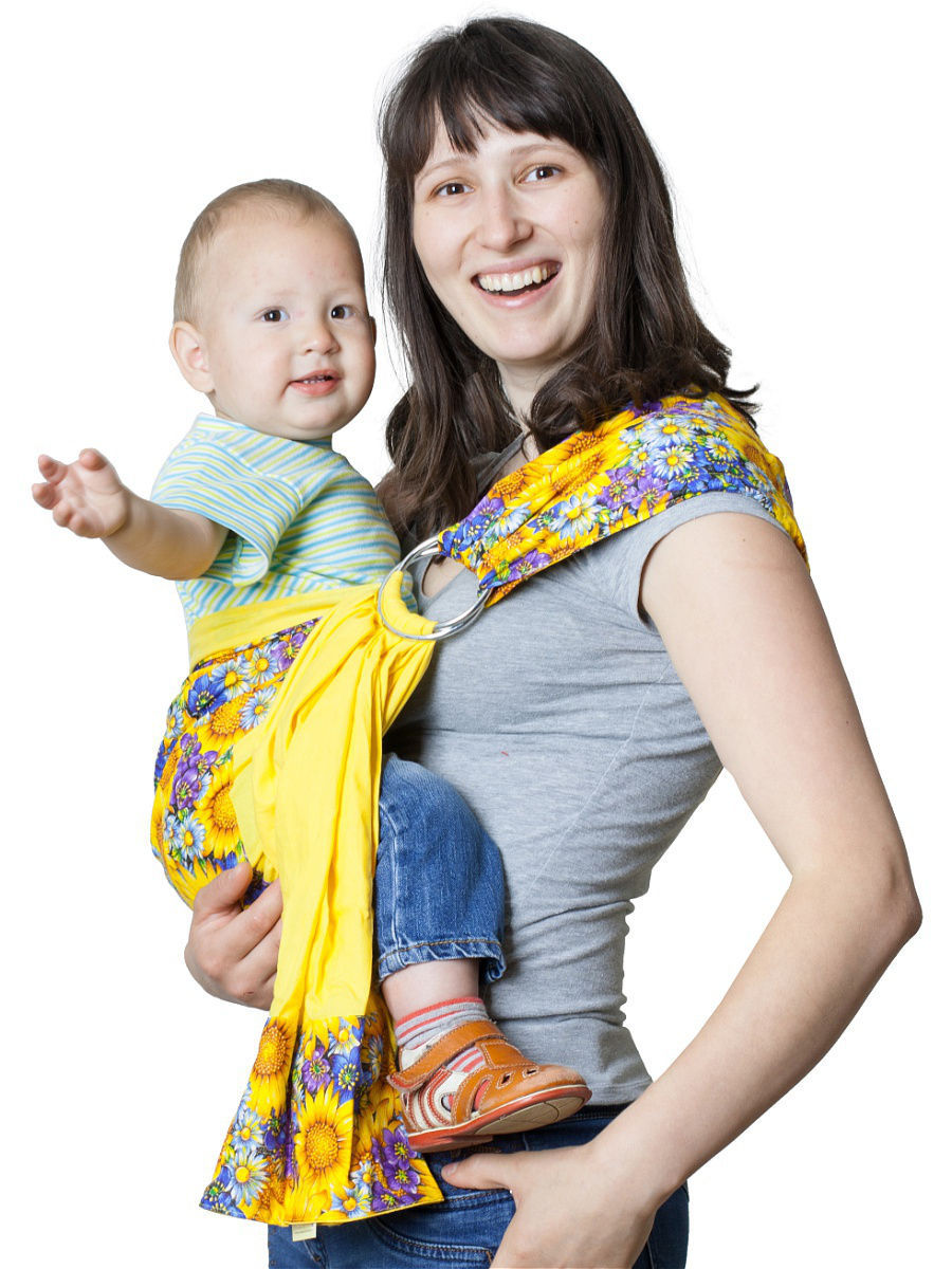Как и какой выбрать слинг для новорожденного: размер, длина, с кольцами или без?